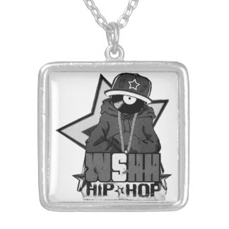 """To glue bathed """"WSHH (Hip Hop) """" Silver Plated Necklace"""