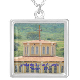 To glue Church of San Antonio Silver Plated Necklace