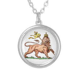 To glue Lion of Judah Round Pendant Necklace