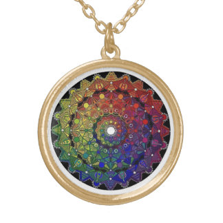 to glue mandala gold plated necklace