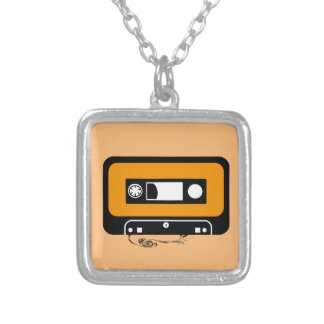 To glue ribbon cassette silver plated necklace