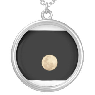 To glue Super moon Silver Plated Necklace