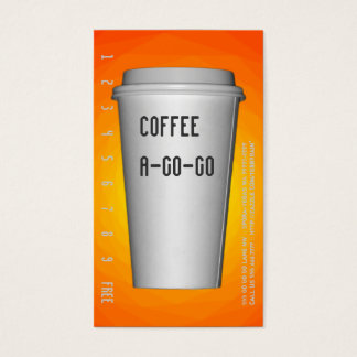 To Go Cup A-Go-Go Renset Business Card