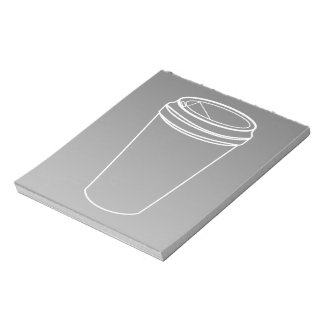 To Go Cup White Line (Paper To-Go) Notepad