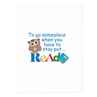 TO GO SOMEPLACE POSTCARD