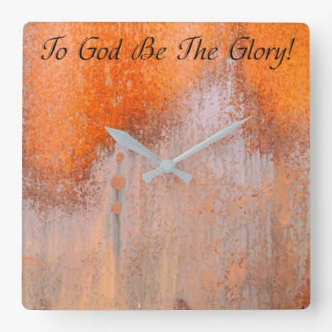 To God Be The Glory Clock