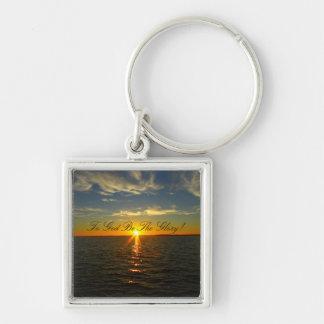 To God Be The Glory! - Lake Sunrise Keychain