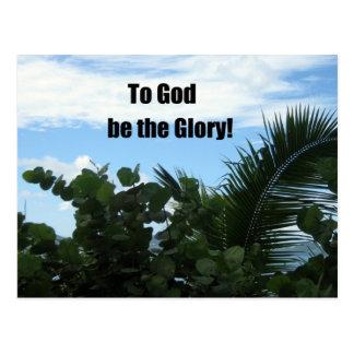 To God be the Glory! Postcard