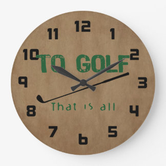To Golf Large Clock