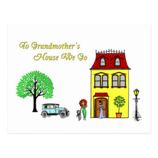 To Grandmother's House We Go Postcard