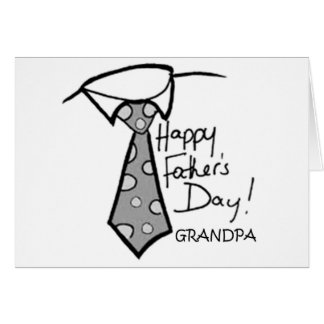 TO GRANDPA ON FATHER'S DAY! GREETING CARD