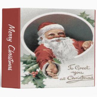 To Greet you at Christmas 3 Ring Binder