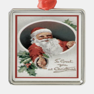 To Greet you at Christmas Metal Ornament