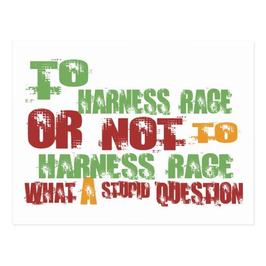 To Harness Race Postcard