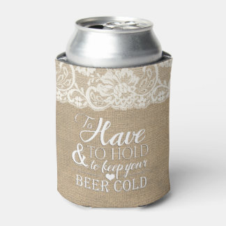 To Have and To Hold Mongram Wedding Koozie Can Cooler