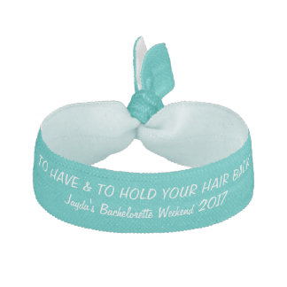 To Have and To Hold Your Hair Back Bachelorette Ribbon Hair Tie