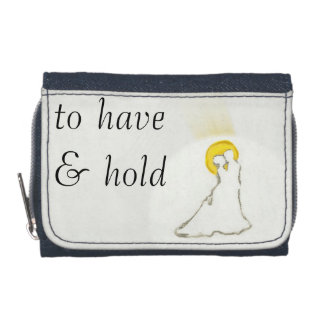 To have & hold/bride/groom wallet