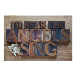 to hear the angels sing poster
