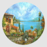 To Heaven and Back Tuscany Design Classic Round Sticker