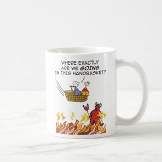 To Hell in a Handbasket Mug