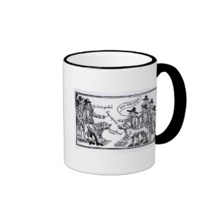 To Him Pudel, Bite Him Peper' Ringer Coffee Mug