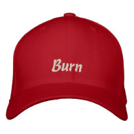 To Hot to Handle BURN Funny Cap / Hat Embroidered Baseball Cap