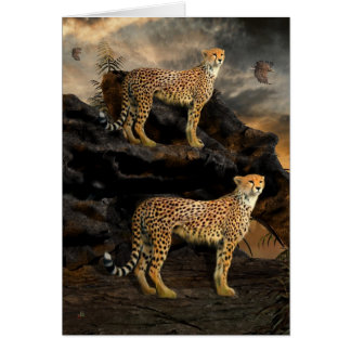 To Hunt in Pairs - Cheetahs Greeting Card