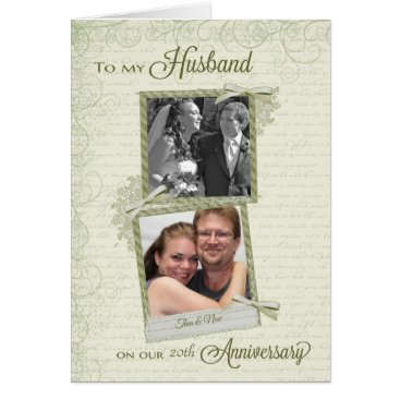 ryckycreations To Husband on __th Anniversary - Custom Then & Now Card