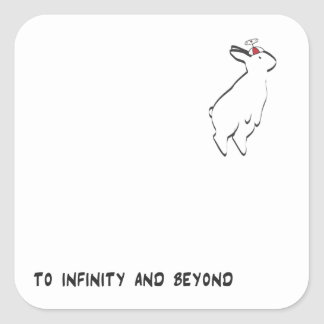 TO INFINITY SQUARE STICKER
