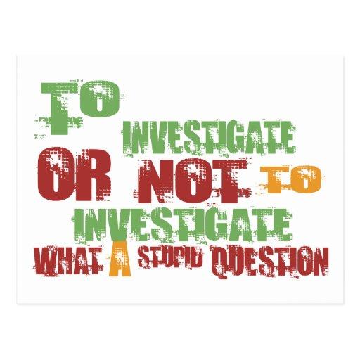 To Investigate Postcard