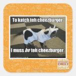 To katch teh cheezburger square sticker