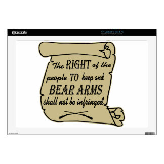 "To Keep And Bear Arms Shall Not Be Infringed Scrol 17"" Laptop Skin"
