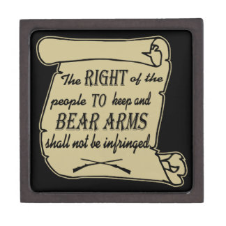 To Keep And Bear Arms Shall Not Be Infringed Scrol Gift Box
