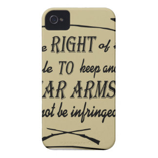To Keep And Bear Arms Shall Not Be Infringed Scrol iPhone 4 Case-Mate Case