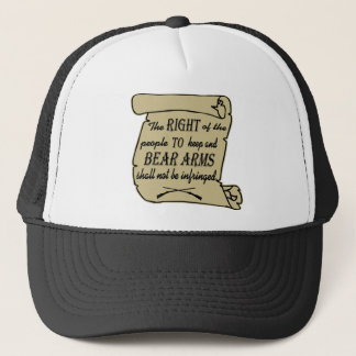 To Keep And Bear Arms Shall Not Be Infringed Scrol Trucker Hat