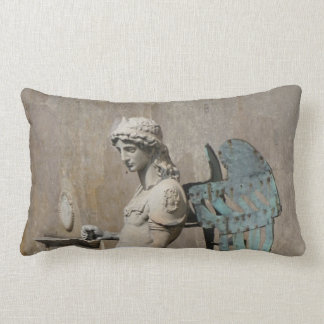 To kiss: picture of St Michael Lumbar Pillow