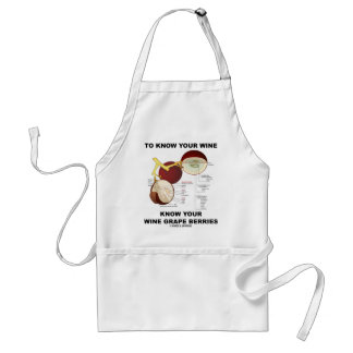 To Know Your Wine Know Your Wine Grape Berries Adult Apron