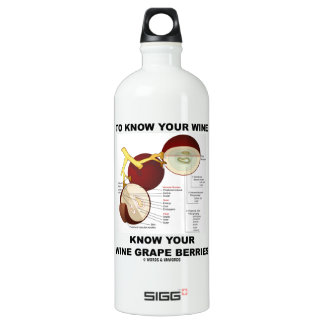 To Know Your Wine Know Your Wine Grape Berries Aluminum Water Bottle
