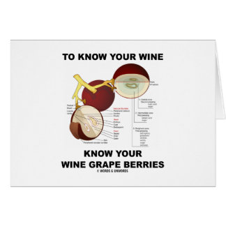 To Know Your Wine Know Your Wine Grape Berries Card