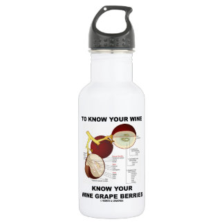 To Know Your Wine Know Your Wine Grape Berries Stainless Steel Water Bottle