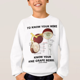To Know Your Wine Know Your Wine Grape Berries Sweatshirt