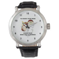 To Know Your Wine Know Your Wine Grape Berries Wrist Watch
