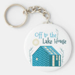 To Lake House Basic Round Button Keychain