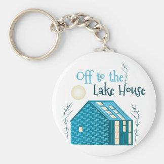 To Lake House Basic Round Button Keychain