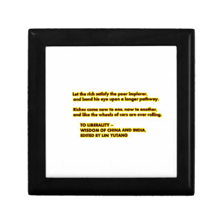 TO LIBERALITY Yellow Red2  Words to Live By jGibne Keepsake Box