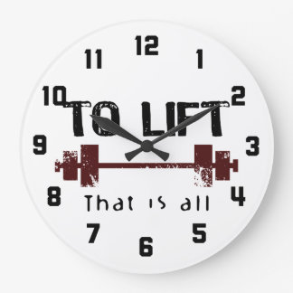To Lift Bodybuilding Large Clock