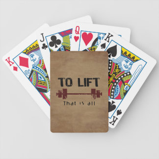 To Lift Bodybuilding Poker Cards