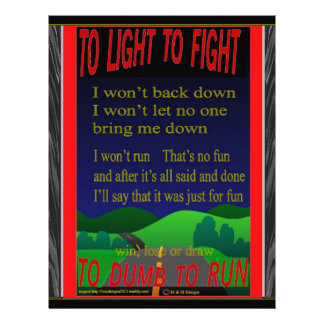 To light to fight letterhead