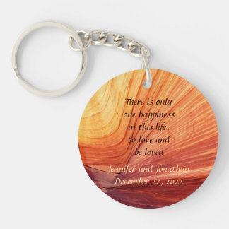 To Love and Be Loved Favor Favors Keychain Double-Sided Round Acrylic Keychain