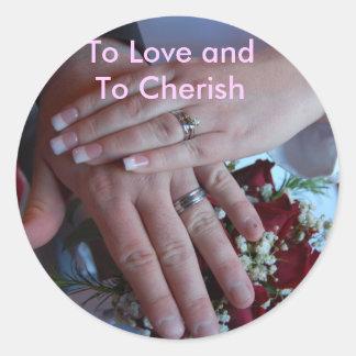 To Love and To Cherish Classic Round Sticker